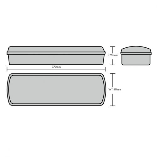 BD14 Technical Diagram LED Bulkhead Light