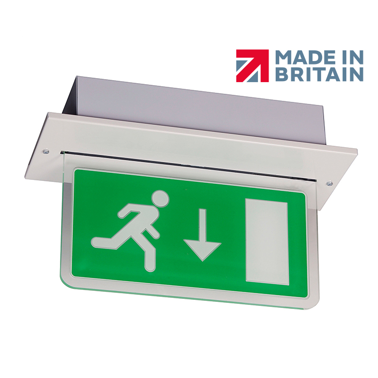 BE3FR Recessed Emergency Exit Sign