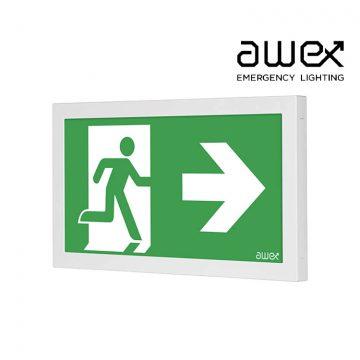 Awex Infinity 1W LED Emergency Exit Sign