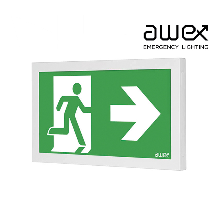 Awex Infinity 1W LED Emergency Exit Sign