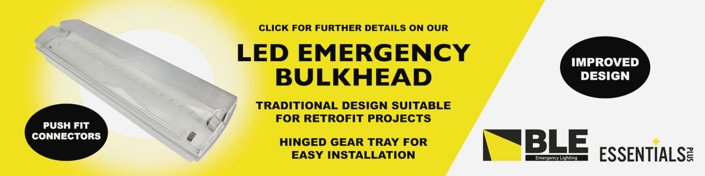 LED Emergency Bulkhead lighting with push-fit connectors (from BLE Lighting)